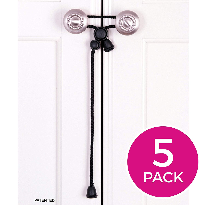 Amerteer 5 Pack Baby Safety Cabinet Locks For Handles