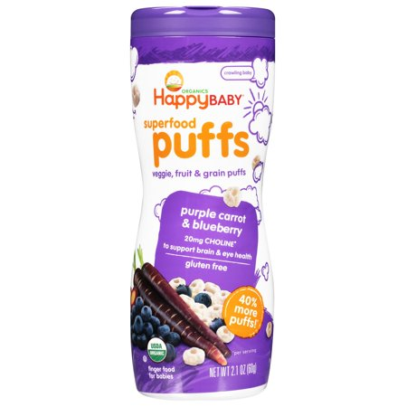 Nurture Inc. (Happy Baby), Organics, Superfood Puffs, Purple Carrot & Blueberry, 2.1 oz(pack of 2)