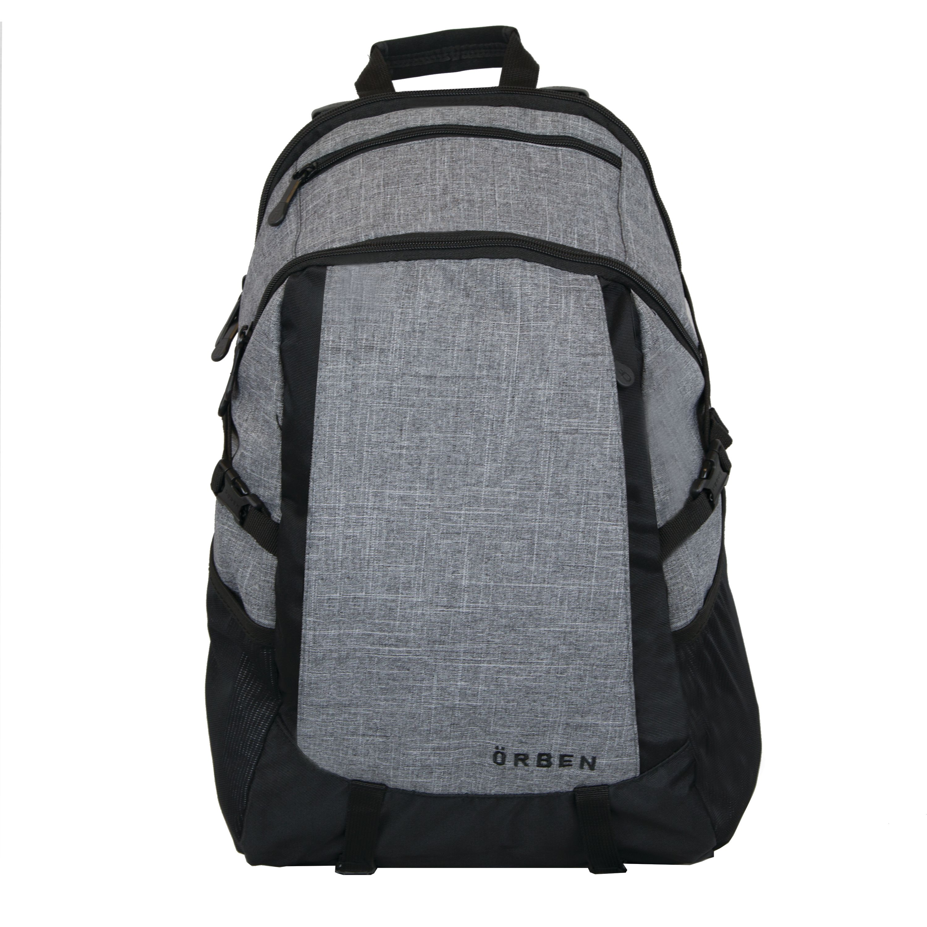 "ORBEN Versatile Daypack Travel Outdoor Bag Fits 15"" Laptop with Tablet Pocket Gray"