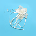 Expo Int'l Bridal Satin Flower with Lace Ornament Applique
