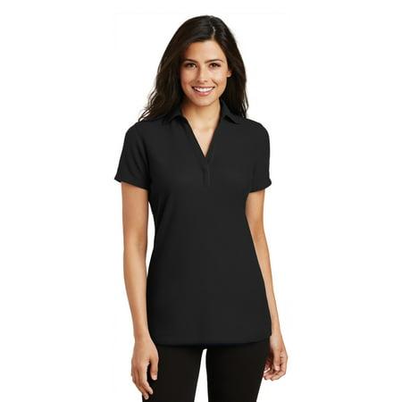 Port Authority® Ladies Silk Touch™ Y-Neck Polo. L5001 Black 3Xl - image 1 de 1