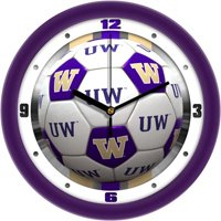 Washington Huskies Soccer Wall Clock