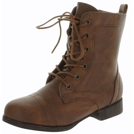 Military Boots Kids (Rosalie32k Lace-Up Kids MIlitary Combat Boot Zipper Children's)
