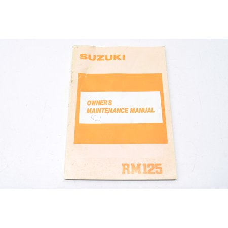 Rm125 Stock (1989 RM125 Owner's Maintenance Manual)