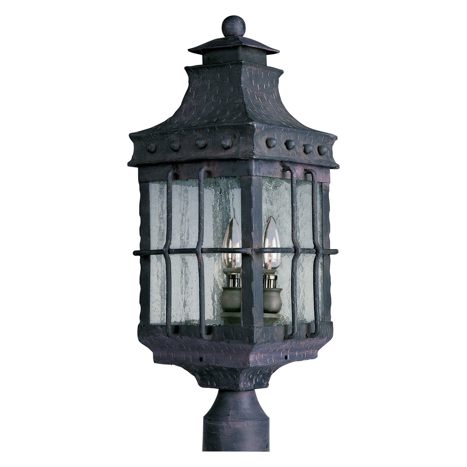 Maxim Nantucket Outdoor Post Lantern 22.5H in. Country Forge by Maxim