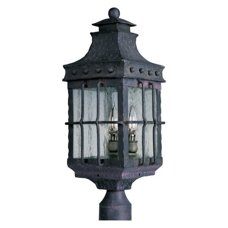 Maxim Nantucket Outdoor Post Lantern   22 5H In  Country Forge