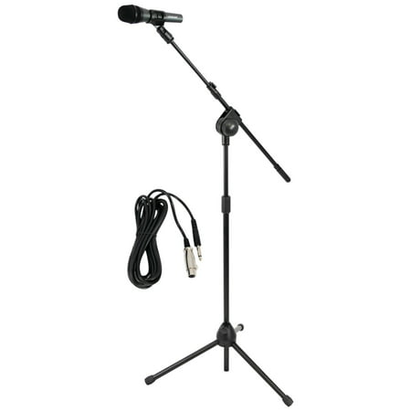 Pro Co Ameriquad Microphone Cable - Pyle Pro PMKSM20 Microphone & Tripod Stand with Extending Boom & Microphone Cable Package