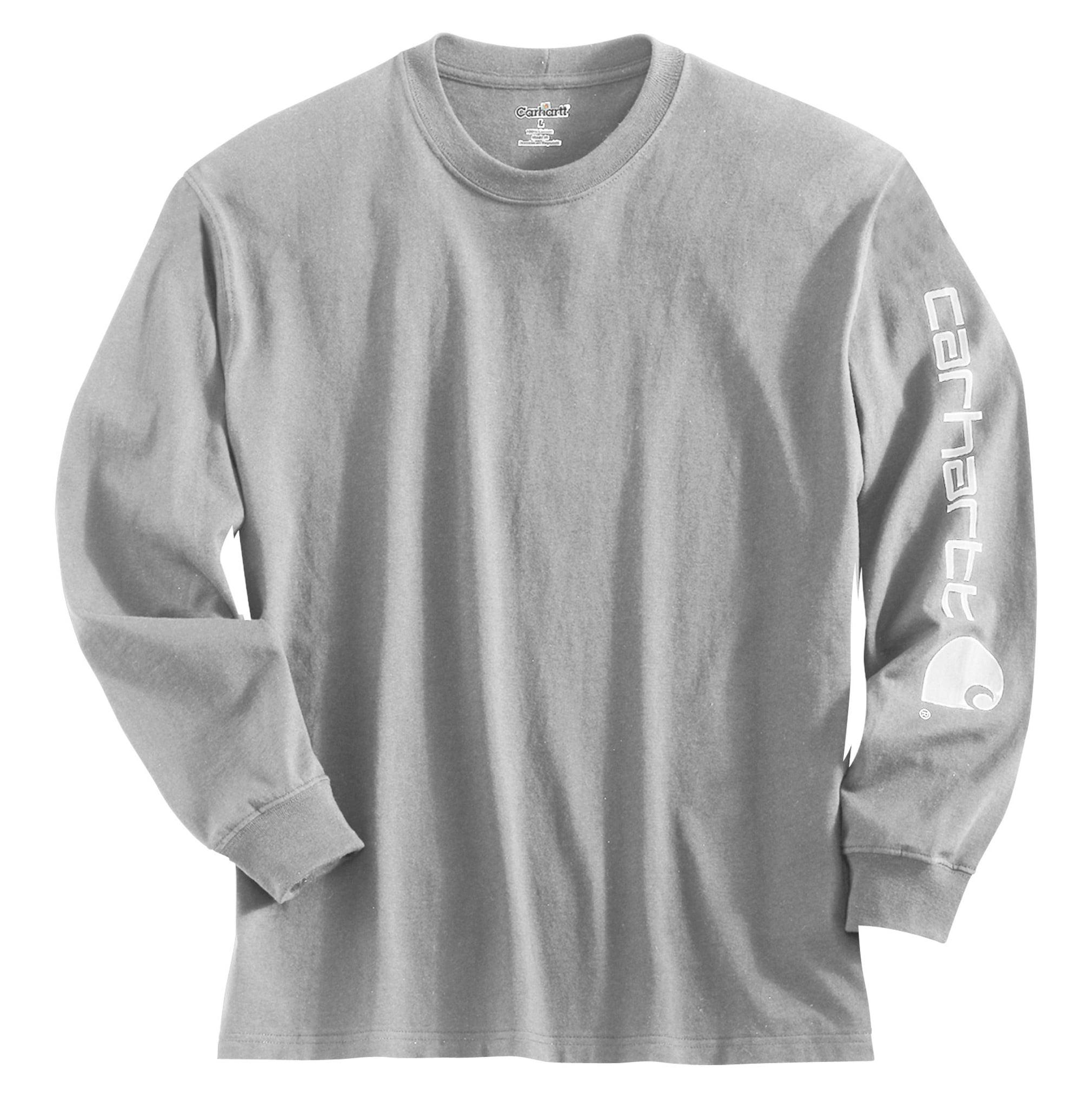 Carhartt Men's Graphic Logo Long Sleeve Shirt (Heather Gr...