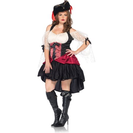 Leg Avenue Plus Size Wicked Pirate Adult Halloween Costume (Plus Size Ladies Pirate Costume)