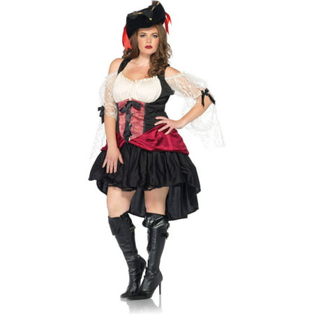 Leg Avenue Plus Size Wicked Pirate Adult Halloween Costume - Leg Avenue Pirate Wench Costume