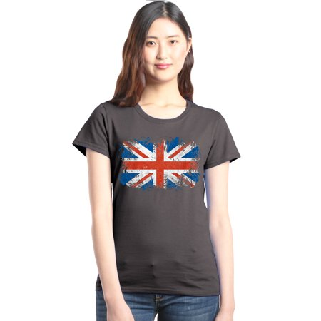Connect Union Tee - Shop4Ever Women's Union Jack British Flag United Kingdom Graphic T-Shirt