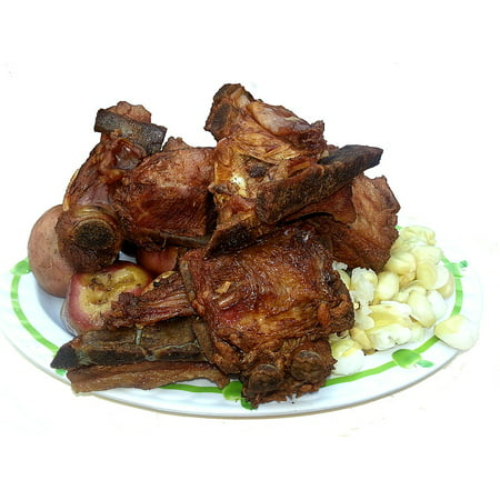 Canvas Print Typical Bolivian Dish Ribs Food Pork Pig Mote Stretched Canvas 10 x 14 - Halloween Ribs Food