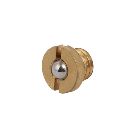 M5x3.5mm Thread 5.6N End Force Brass Slotted Flange Ball Style Spring Plunger - image 4 de 4