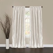 Velvet Dream Snow White Window Curtains, Set of 2