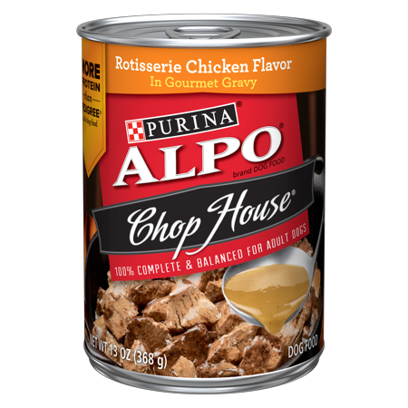 (11 Pack) Purina ALPO Chop House Rotisserie Chicken Flavor in Gourmet Gravy Adult Wet Dog Food - 13 oz. Can