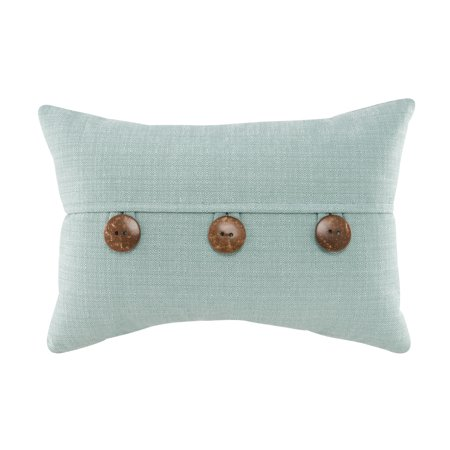 Mainstays Dynasty Oblong 40 Coconut Buttons Decorative Throw Pillow Custom Decorative Pillows With Buttons
