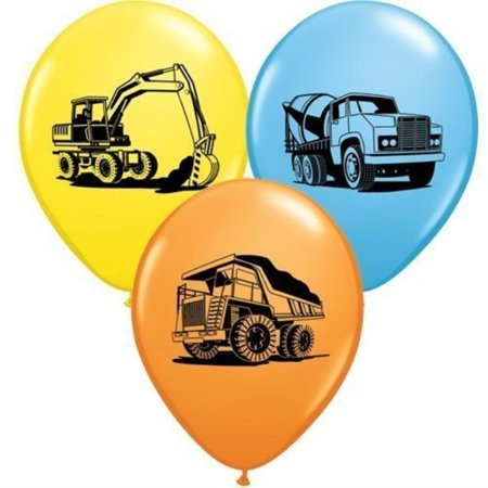 trucks & diggers party construction trucks assorted 11