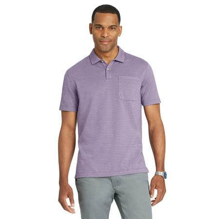 a81330d44 Van Heusen - Van Heusen Men's Size Big and Tall Flex Jacquard Stripe Polo  Shirt | Dusty Lilac XL Tall - Walmart.com