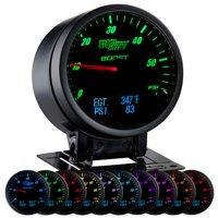 GlowShift 60mm 3in1 Black Face Boost w Digital Exhaust Gas Temp & Fuel Pressure Gauges