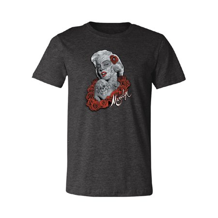 Marilyn Monroe Day Of Dead Skull Men's T-shirt Dia de Muertos Tee