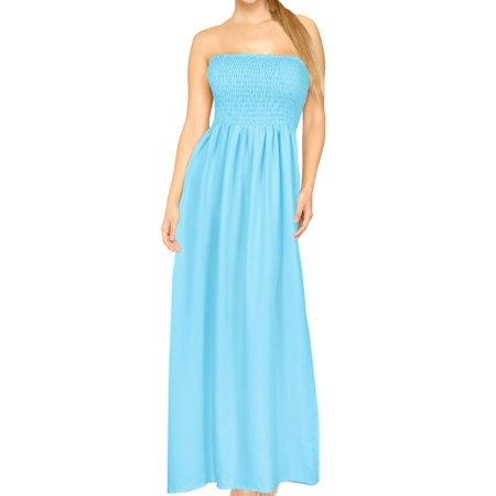 New Smocked Dress 2 Piece (HAPPY BAY Tube Dress Maxi Skirt Beach Backless Sundress Halter Evening Casual Swimsuit)