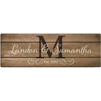 Personalized The Happy Couple 6x18 Canvas