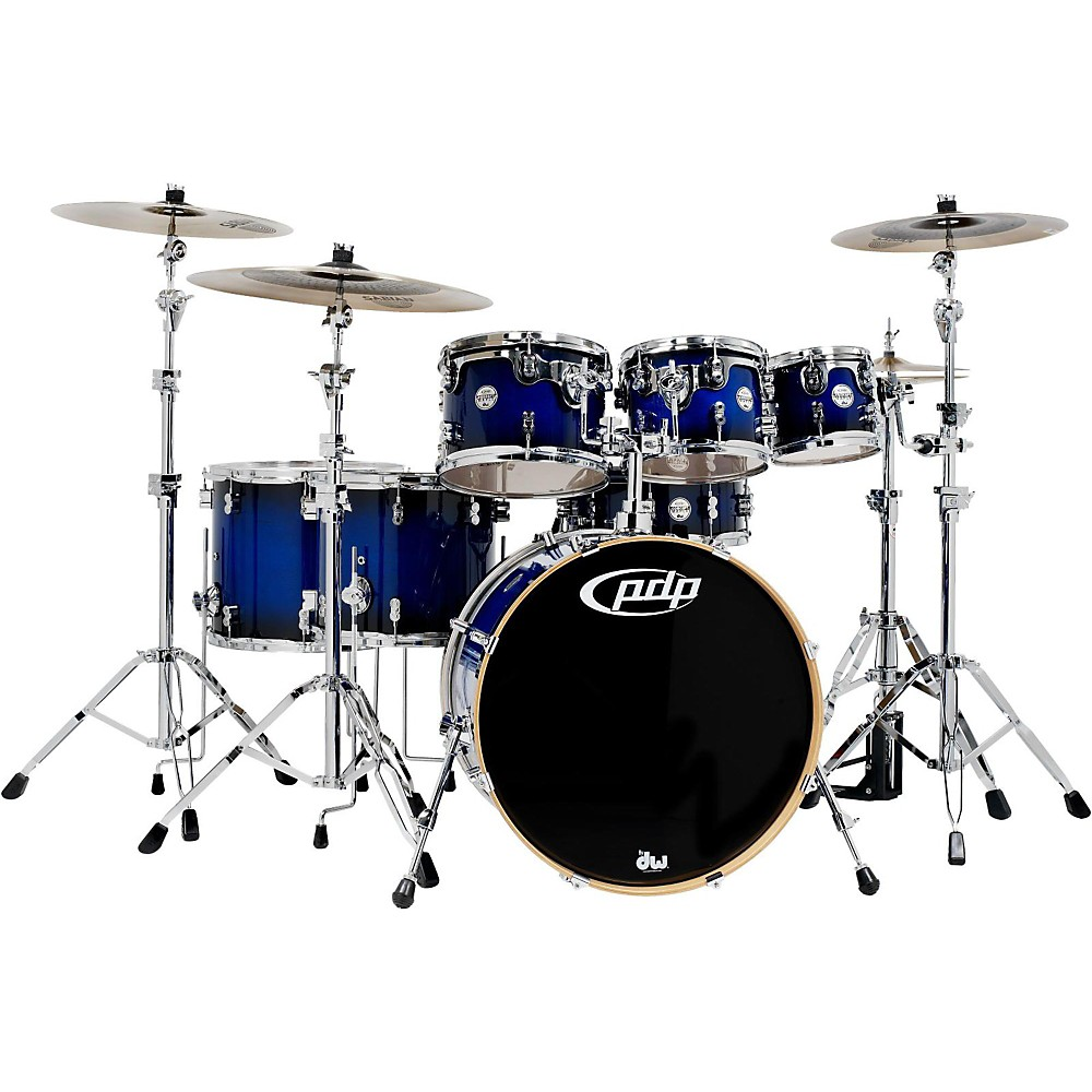 PDP Concept Maple by DW 7-Piece Shell Pack Royal Blue to Black Burst