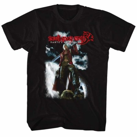 Devil May Cry Gaming Dante'S Awakening (Dmc 3) Adult Short Sleeve T Shirt (Dmc Dante Coat)