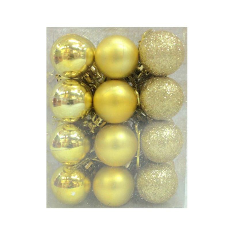 Sawpy 24pcs Christmas Balls Decorations Party Wedding Christmas Tree Xmas Ornament