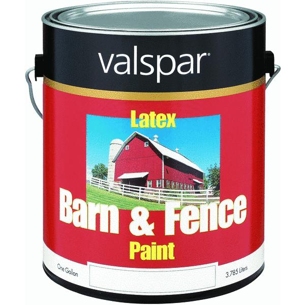 Valspar Latex Paint & Primer In One Flat Barn & Fence Paint
