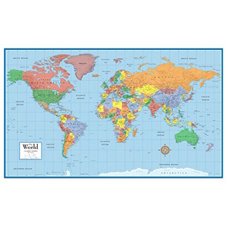 48x78 Huge World Classic Elite Wall Map Poster