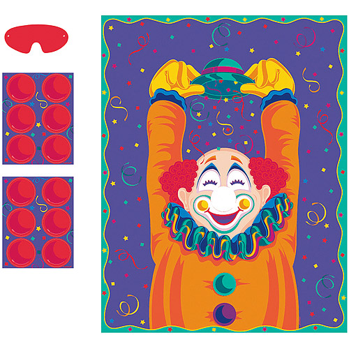 Party Game - Pin the Nose on the Clown
