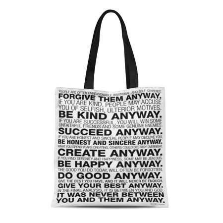 ASHLEIGH Canvas Tote Bag Forgive Life Them Kind Anyway Create Classic Good Best Reusable Handbag Shoulder Grocery Shopping (Best Classic Handbags 2019)