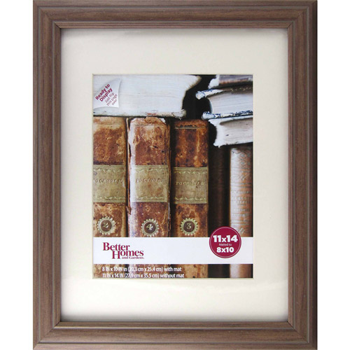 Better Homes and Gardens Marco 11x14 to 8x10 Frame, Walnut