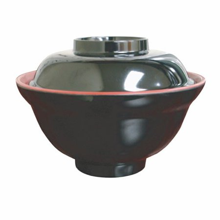 Thunder Group 3223JBR 16 Oz 6 Inch Asian Two Tone Melamine Red and Black Round Extra Large Soup/Vegetable Bowl, DZ Colorwave Round Vegetable Bowl