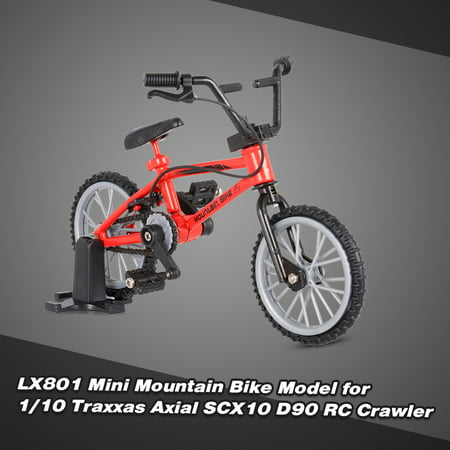 LX801 Decor Accessories Mini Mountain Bike Model Toys for 1/10 Traxxas Axial SCX10 Tamiya D90 D110 TF2 RC Crawler - image 7 de 7