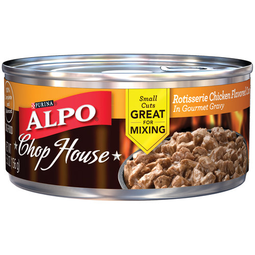 Alpo Wet 24-Pack Chop House Rotisserie Chicken Flavored Cuts in Gourmet Gravy Can, 5.5-Ounce