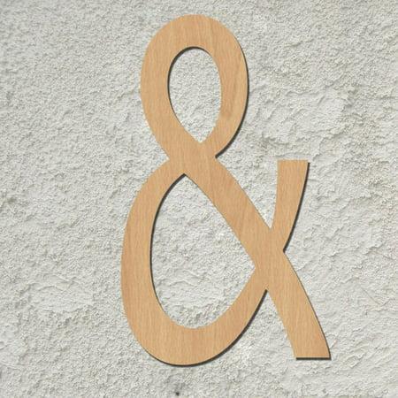 20 Diamond Script Wood Mongram Single Letter Wall Décor Instructions Below