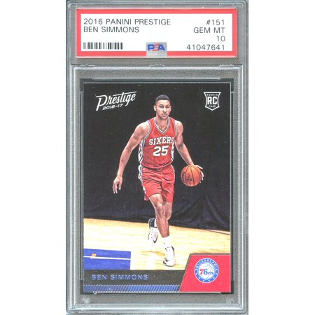 2016 17 Panini Prestige 151 Ben Simmons Philadelphia 76ers Rookie Card Psa 10