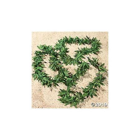 Tropical Fern Leaf Polyester Leis - 12 - Artificial Leis