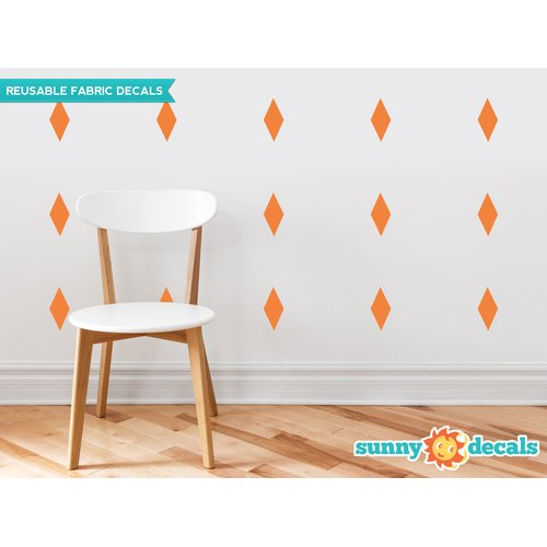 Sunny Decals Diamond Fabric Wall Decal (Set of 16)