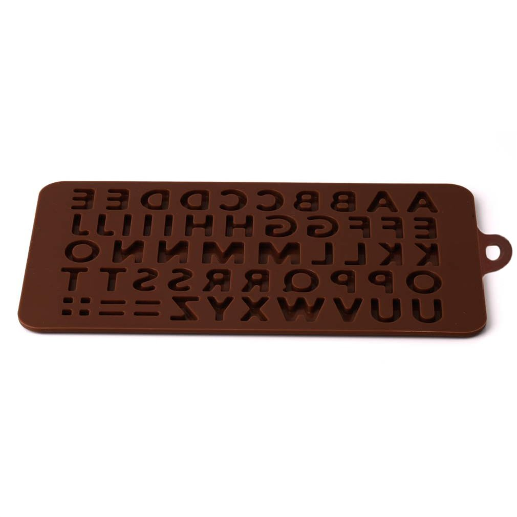 Brown Alphabet Silicone Cake Mold Decorating Fondant Cookie Chocolate Mould Brown