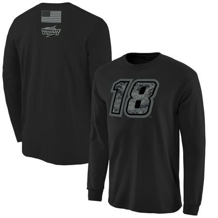 Kyle Busch Digi Camo Battallion Long Sleeve T-Shirt - Black (Kyle Busch Costume)