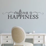 Belvedere Designs LLC Craftiness is Happiness Swirls Wall Decal