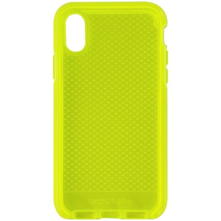 Tech21 Evo Check Gel Case for Apple iPhone Xs and iPhone X - Neon