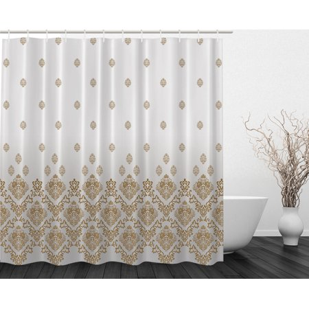 Vintage Country Victorian Style Fl Art Print Fabric Shower Curtain