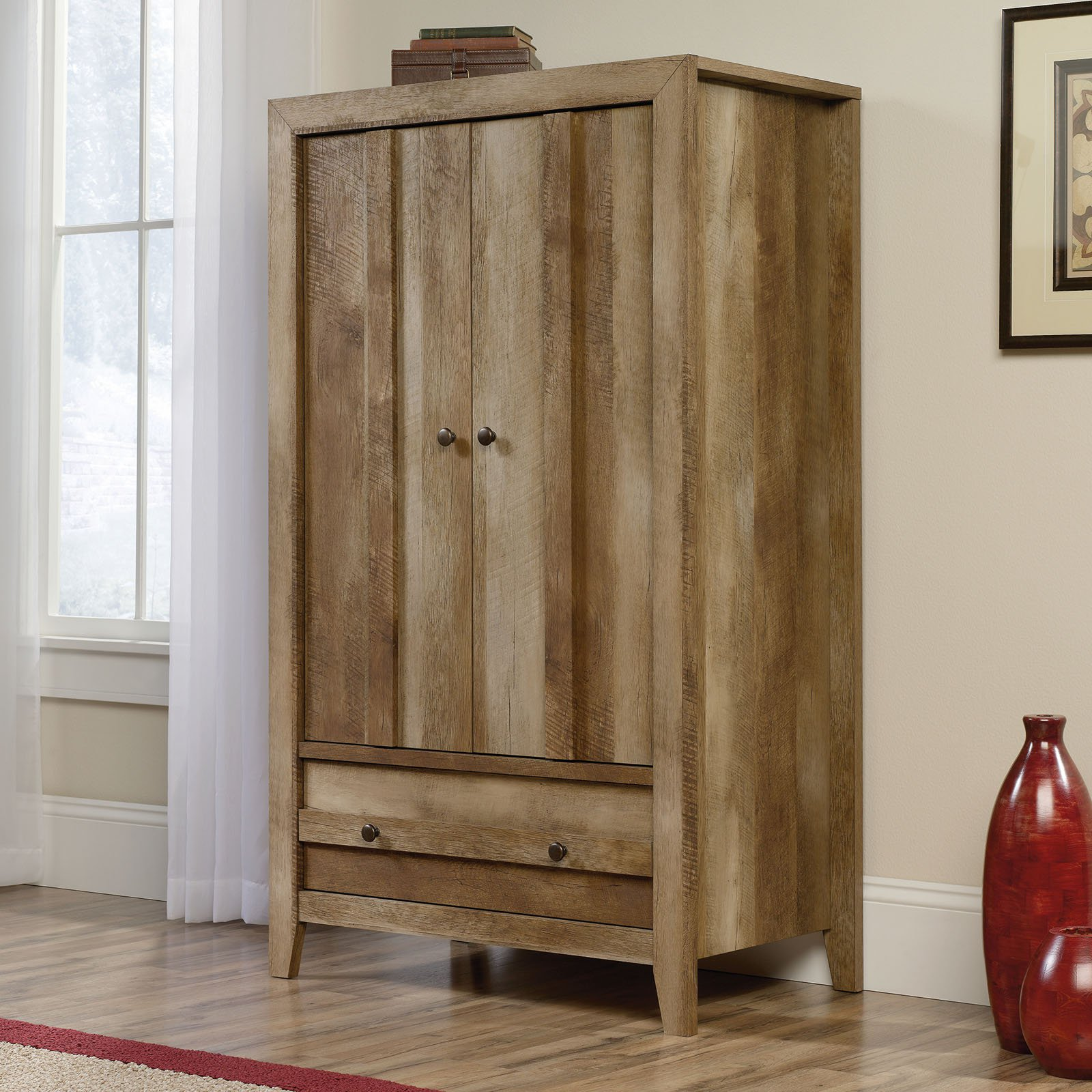 Sauder Dakota Pass Armoire, Craftsman Oak Finish by Sauder Woodworking