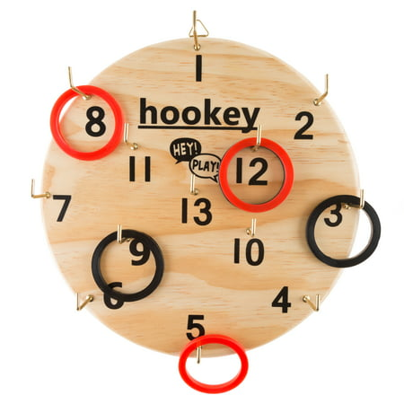 Hookey Ring Toss Game Set for Outdoor or Indoor Play, Safe Alternative to Darts for Adults and Kids by Hey! - Ring Toss