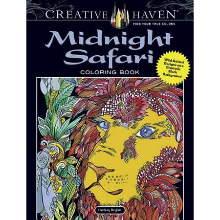 Creative Haven Midnight Safari Coloring Book : Wild Animal Designs on a Dramatic Black Background](Gone Wild Safari Halloween)