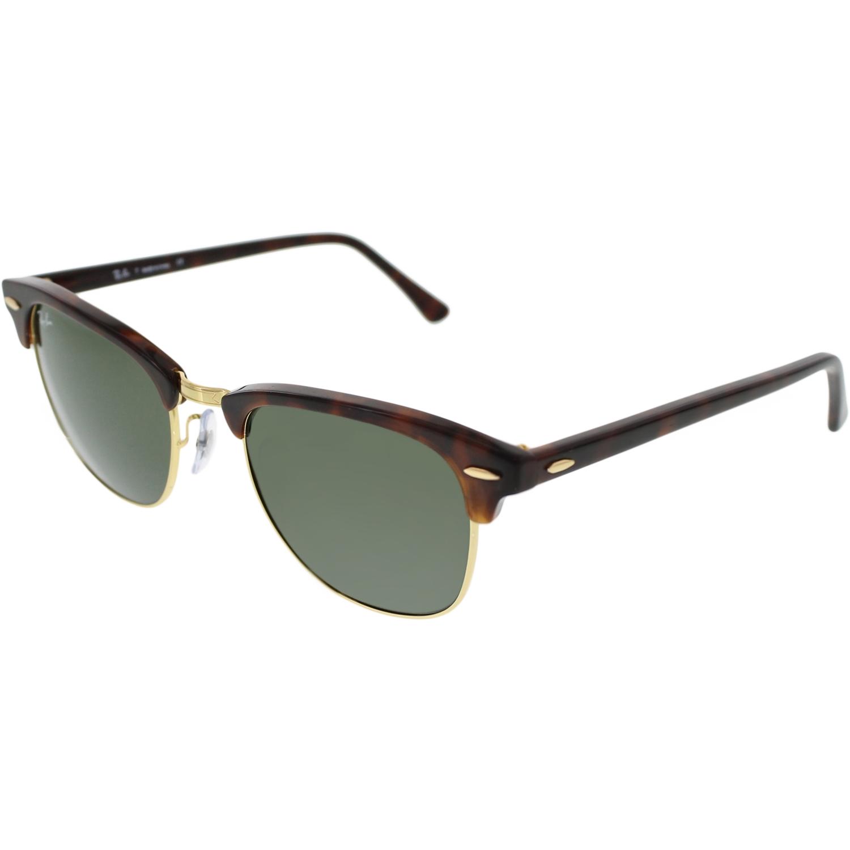 Ray-Ban Men's Clubmaster RB3016-W0366-51 Tortoiseshell Semi-Rimless Sunglasses by Ray-Ban